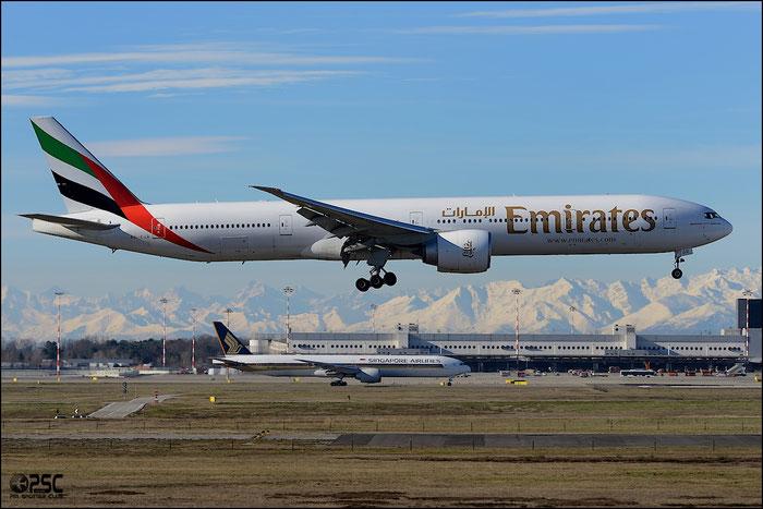 A6-EGR B777-31HER 41077/1018 Emirates @ Milano Malpensa Airport 25.01.2014 © Piti Spotter Club Verona