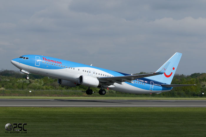 G-FDZB B737-8K5 35131/2242 Thomson Airways @ Manchester Airport13.05.2014 © Piti Spotter Club Verona