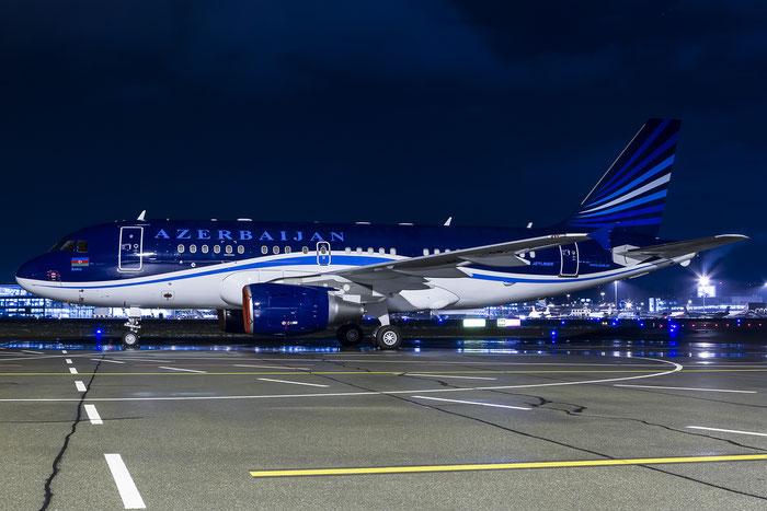 4K-8888 A319-115 (ACJ) 2487 Government of Azerbaijan @ Zurich Airport 20.01.2016 © Piti Spotter Club Verona