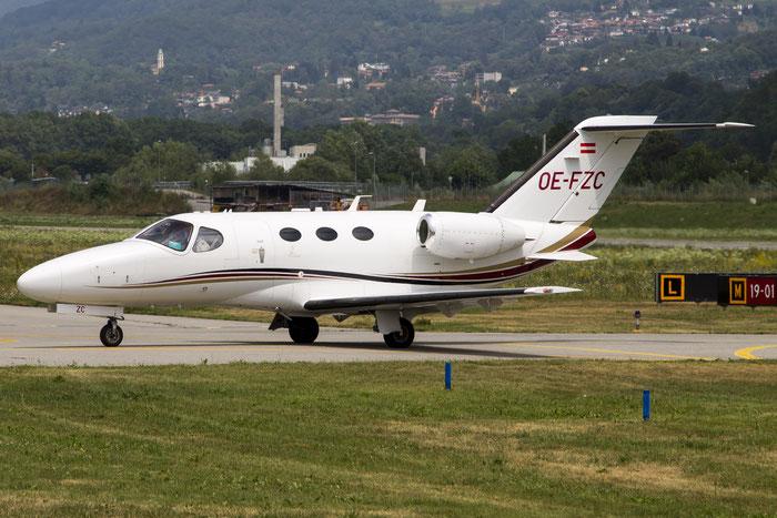OE-FZC Ce510 510-0196 GlobeAir AG @ Lugano Airport 19.07.2013 © Piti Spotter Club Verona