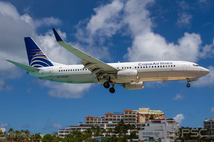 HP-1729CMP B737-8V3 41088/3977 COPA Airlines - Compañia Panameña de Aviación @ Sint Maarten Airport 09.04.2016 © Piti Spotter Club Verona