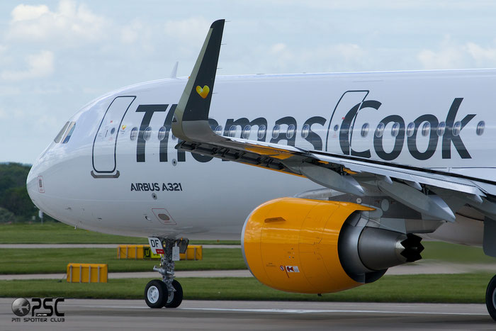 G-TCDF A321-211 6114 Thomas Cook Airlines @ Manchester Airport 13.05.2014 © Piti Spotter Club Verona
