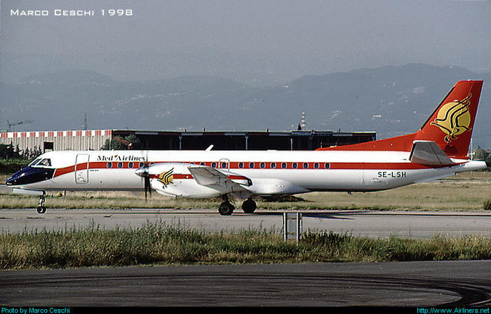 SE-LSH Saab 2000 2000-052 @ Aeroporto di Verona © Piti Spotter Club Verona