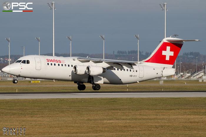 HB-IYY BAe146-RJ100 E3339 Swiss Global Air Lines @ Munich Airport 13.12.2015 © Piti Spotter Club Verona