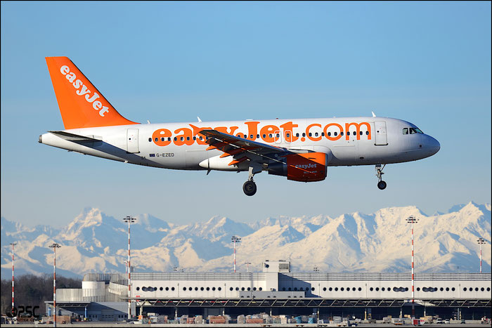 G-EZED A319-111 2170 EasyJet Airline @ Milano Malpensa Airport 25.01.2014 © Piti Spotter Club Verona