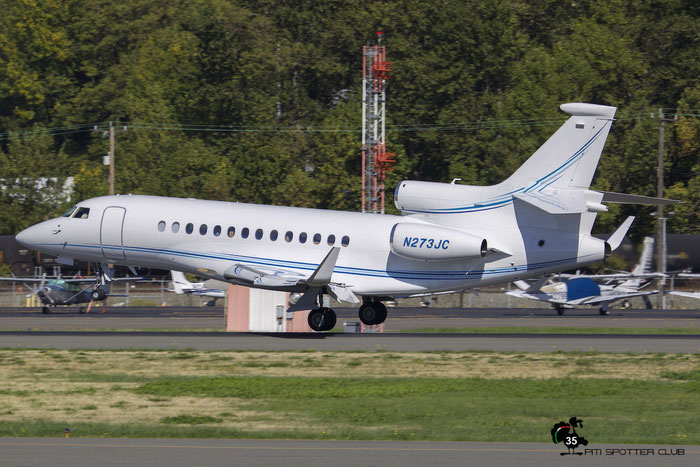 N273JC Falcon 7X 18 Cisco Systems Inc. @ Boeing Field Airport 22.09.2015 © Piti Spotter Club Verona