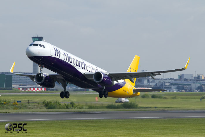 G-ZBAD A321-231 5582 Monarch Airlines @ Manchester Airport 13.05.2014 © Piti Spotter Club Verona