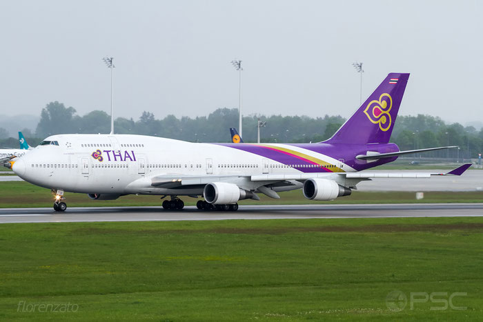 HS-TGO B747-4D7 26609/1001 Thai Airways International @ Munich Airport 15.05.2016 © Piti Spotter Club Verona