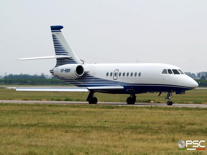 VP-BBP Falcon 2000 160 Albinati Aeronautics SA  @ Aeroporto di Verona 26.07.2009  © Piti Spotter Club Verona