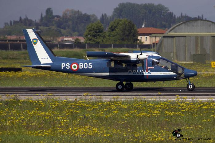 Italy - Police Partenavia P.68 Observer 2 - PS B05 @ Aeroporto di Verona © Piti Spotter Club Verona