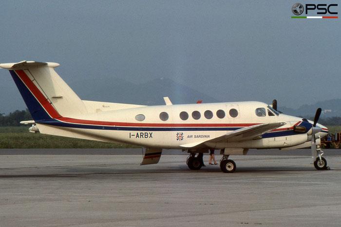 I-ARBX Beech 200 BB-556 Soc Locat Air Sardinia © 2018 courtesy of Marco Ceschi - Piti Spotter Club Verona
