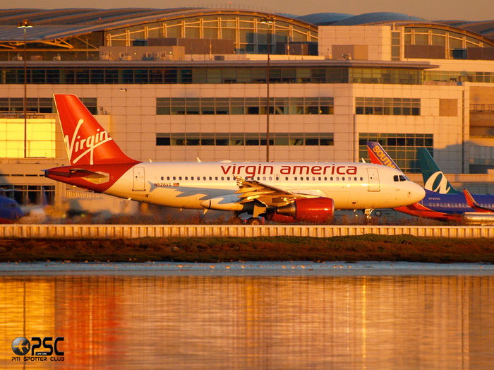 N526VA A319-112 3347 Virgin America @ San Francisco Airport 14.10.2013 © Piti Spotter Club Verona