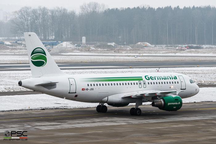 HB-JOG A319-112 3818 Germania Flug @ Zurich Airport 21.01.2017 © Piti Spotter Club Verona