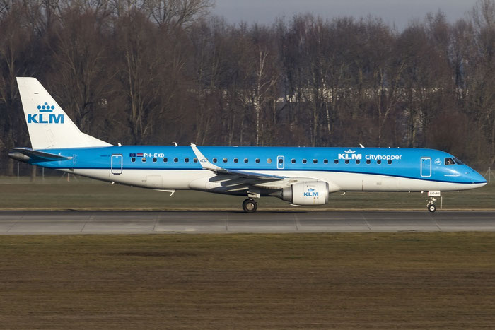 PH-EXD ERJ190STD 19000661 KLM Cityhopper @ Munich Airport - 28.12.2015  © Piti Spotter Club Verona