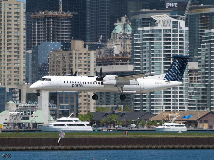 C-GLQF DHC-8-402 4193 Porter Airlines @ Toronto Bishop Airport 15.05.2013 © Piti Spotter Club Verona