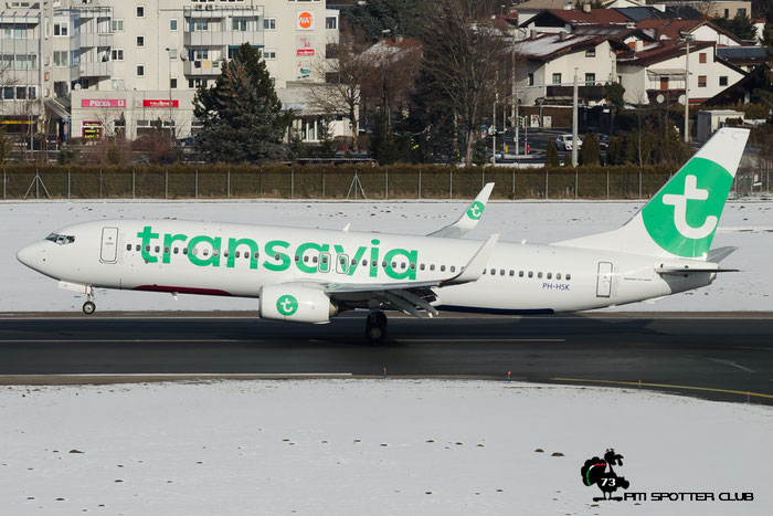PH-HSK B737-8K2 41330/5354 Transavia Airlines @ Innsbruck Airport 24.01.2016  © Piti Spotter Club Verona