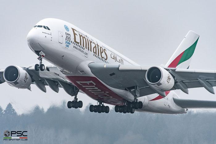 A6-EOJ A380-861 182 Emirates @ Zurich Airport 21.01.2017 © Piti Spotter Club Verona