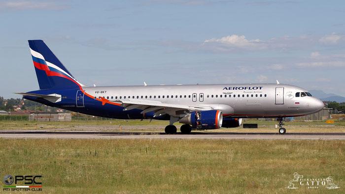 VQ-BKT A320-214 4712 Aeroflot @ Aeroporto di Verona 07.07.2018  © Piti Spotter Club Verona