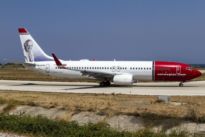 LN-DYW B737-8JP 39010/3871 Norwegian @ Rhodes Airport 11.07.2015 © Piti Spotter Club Verona