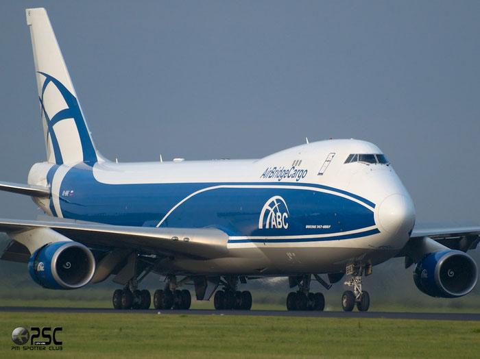 VQ-BHE B747-4KZF 36784/1411 AirBridgeCargo @ Amsterdam Airport 20.09.2013 © Piti Spotter Club Verona