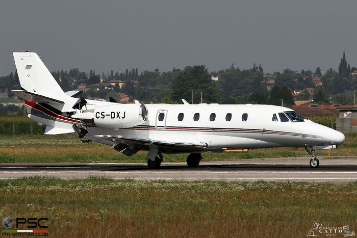 CS-DXJ Ce560XLS 560-5627 NetJets Europe @ Aeroporto di Verona 04.08.2017  © Piti Spotter Club Verona
