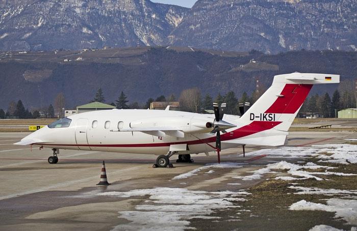 D-IKSI P180 1165 - Private @ Aeroporto di Bolzano © Piti Spotter Club Verona