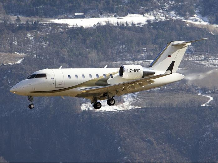 LZ-BVD CL-605 5768 Air Lubo @ Aeroporto di Bolzano © Piti Spotter Club Verona