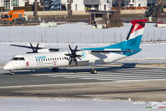 LX-LQB DHC-8-402 4512 Luxair @ Innsbruck Airport 27.01.2018 © Piti Spotter Club Verona