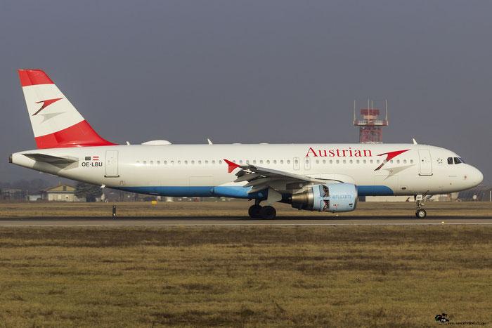 OE-LBU A320-214 1478 Austrian Airlines @ Aeroporto di Verona 18.02.2017  © Piti Spotter Club Verona
