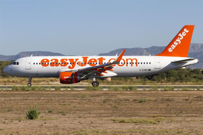 G-EZWS A320-214 6011 EasyJet Airline @ Palma de Mallorca Airport 07.2014 © Piti Spotter Club Verona