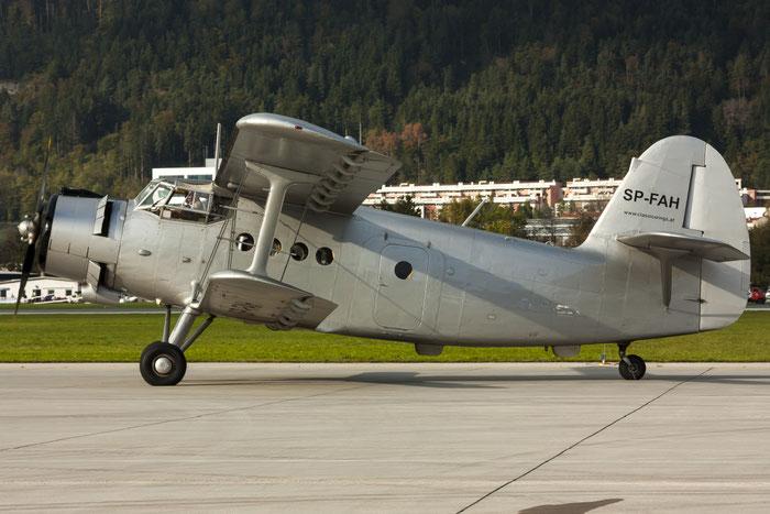 SP-FAH Classic Wings Antonov An-2 · Classic Wings · Antonov An-2 @ Innsbruck Airport 10.2014 © Piti Spotter Club Verona