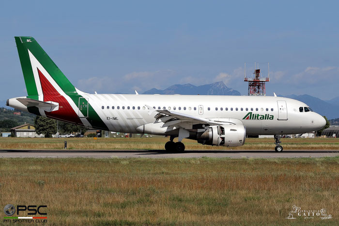 EI-IML A319-112 2127 Alitalia @ Aeroporto di Verona 07.08.2017  © Piti Spotter Club Verona