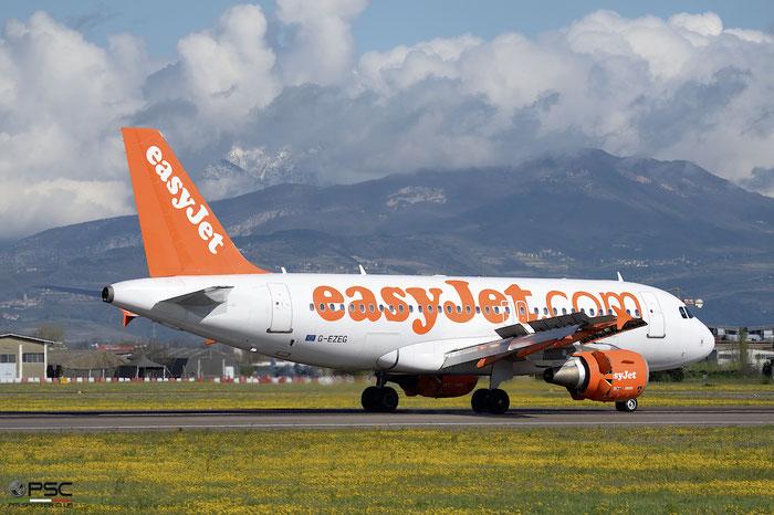 G-EZEG A319-111 2181 easyJet @ Aeroporto di Verona 13.04.2018  © Piti Spotter Club Verona