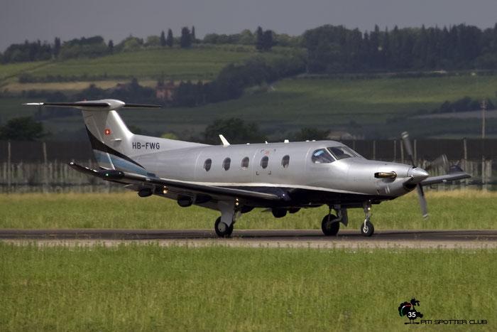 HB-FWG PC-12/47E 1298 Share Plane AG @ Aeroporto di Verona 25.05.2017  © Piti Spotter Club Verona