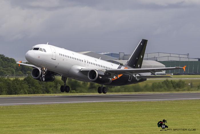 G-POWK A320-233 4701 Titan Airways @ Manchester Airport 21.06.2015 © Piti Spotter Club Verona