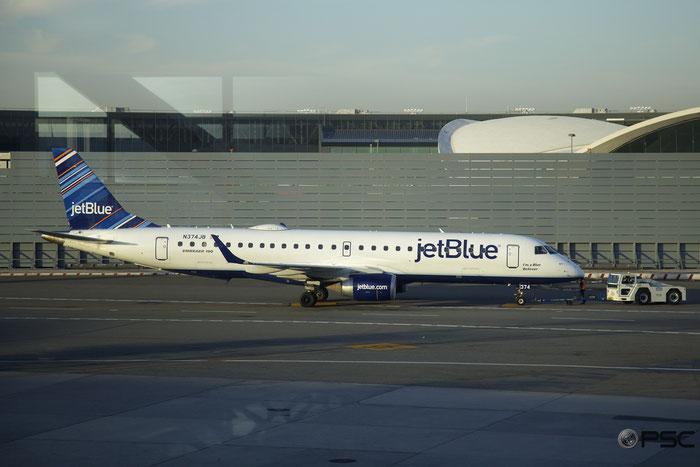 N374JB ERJ190AR 19000629 JetBlue Airways @ New York JFK Airport 19.02.2017 © Piti Spotter Club Verona