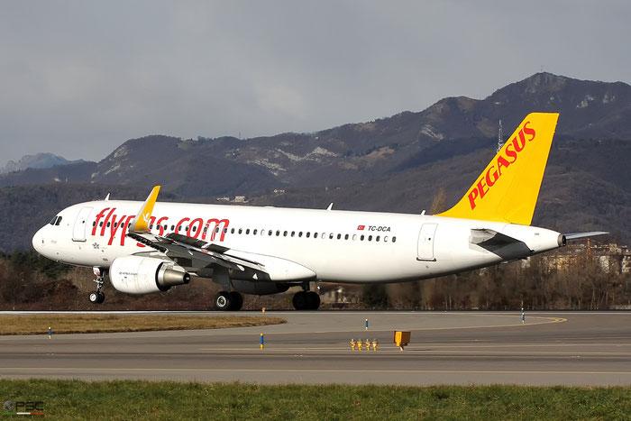 TC-DCA A320-214 5879 Pegasus Airlines @ Bergamo Airport 05.01.2017 © Piti Spotter Club Verona