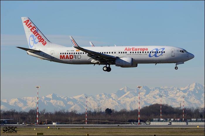 EC-ISN B737-86Q 30291/1435 Air Europa @ Milano Malpensa Airport 25.01.2014 © Piti Spotter Club Verona