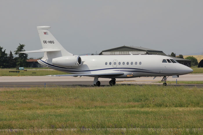 OE-HBG Falcon 2000 207 International Jet Management @ Aeroporto di Verona 10.06.2018  © Piti Spotter Club Verona