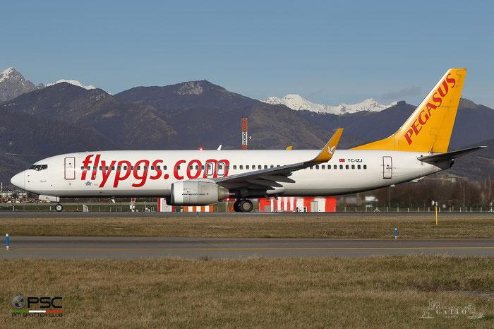 TC-IZJ B737-82R 35700/2435 Pegasus Airlines @ Bergamo Airport 01.2018 © Piti Spotter Club Verona