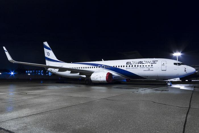 4X-EKP B737-8Q8 30639/935 El Al Israel Airlines @ Zurich Airport 20.01.2016 © Piti Spotter Club Verona