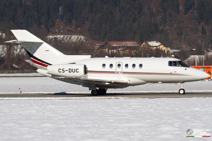 CS-DUC BAe125-750 HB-6 NetJets Europe @ Innsbruck Airport 27.01.2018 © Piti Spotter Club Verona