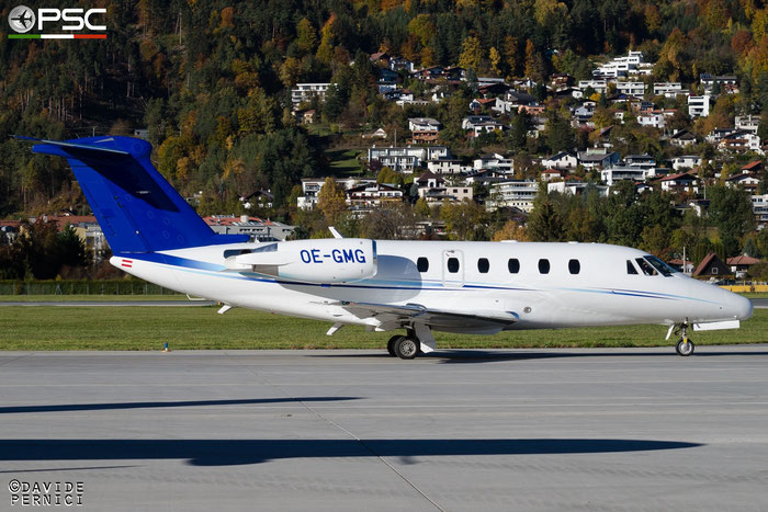 OE-GMG Ce650-VII 650-7102 Tyrolean Jet Service @ Innsbruck Airport 10.2015 © Piti Spotter Club Verona