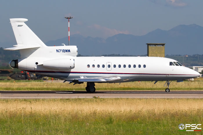 N718MM Falcon 900EX-EASy 179 Moinian Jet One Holdings LLC @ Aeroporto di Verona 30.06.2018  © Piti Spotter Club Verona