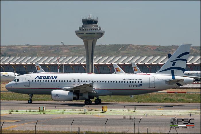 SX-DVX A320-232 3829 Aegean Airlines @ Madrid Airport 2011 © Piti Spotter Club Verona