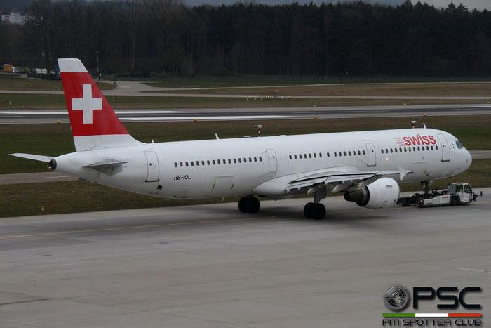 HB-IOL A321-111 1144 Swiss International Air Lines @ Zurich Airport 14.03.2016 © Piti Spotter Club Verona