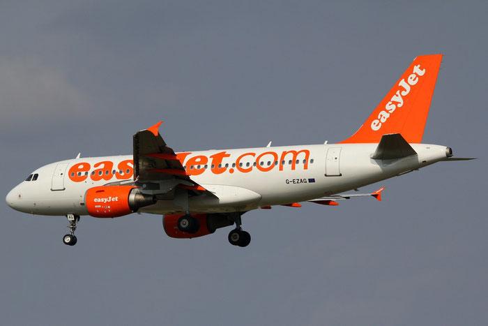 G-EZAG A319-111 2727 EasyJet Airline @ Milano Malpensa Airport 31.08.2014 © Piti Spotter Club Verona