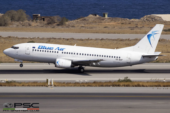 YR-BAP B737-3Y0 24909/2021 Blue Air @ Heraklion Airport 09.2016 © Piti Spotter Club Verona