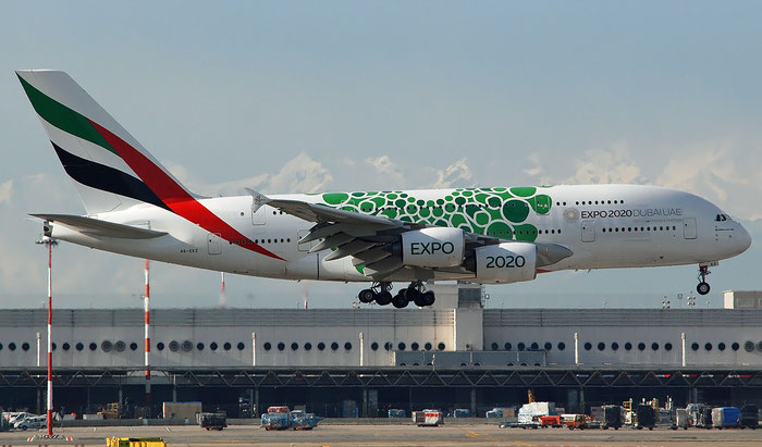 A6-EEX A380-861 154 Emirates @ Milano Malpensa  09.12.2018 © Piti Spotter Club Verona