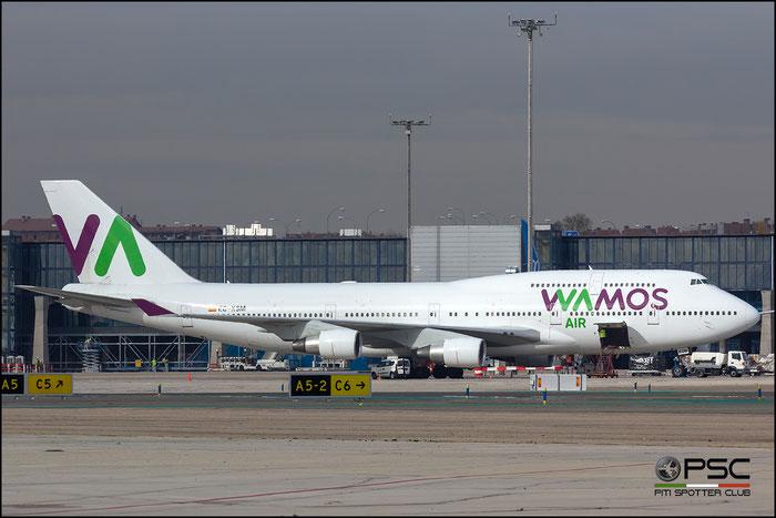 EC-KSM B747-412 27178/1015 Wamos Air @ Madrid Airport 23.11.2017 © Piti Spotter Club Verona